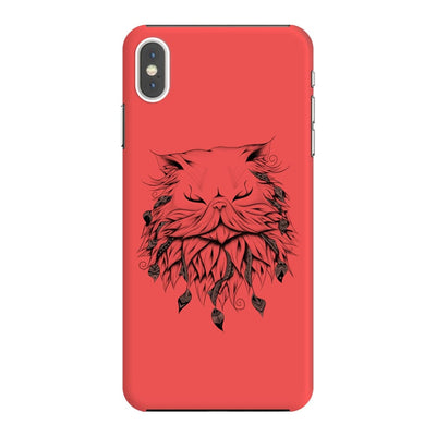 Poetic Persian Cat Slim Case And Cover For Iphone Xs Max - Neon Red