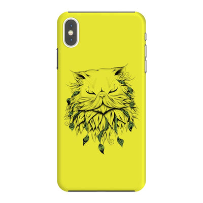 Poetic Persian Cat Slim Case And Cover For Iphone Xs Max - Neon Yellow