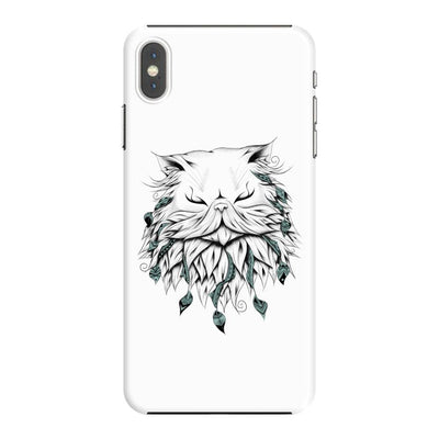 Poetic Persian Cat Slim Case And Cover For Iphone Xs Max - White