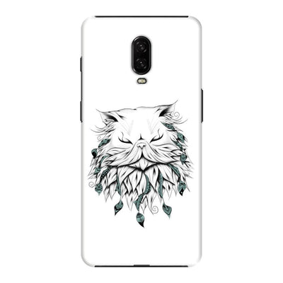 Poetic Persian Cat Slim Case And Cover For Oneplus 6T - White