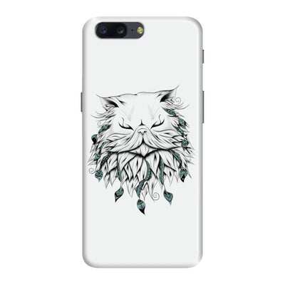 Poetic Persian Cat Slim Case And Cover For Oneplus Five - White