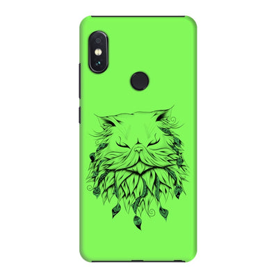 Poetic Persian Cat Slim Case And Cover For Redmi Note 5 Pro - Neon Green