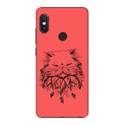 Poetic Persian Cat Slim Case And Cover For Redmi Note 5 Pro - Neon Red