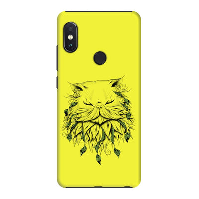 Poetic Persian Cat Slim Case And Cover For Redmi Note 5 Pro - Neon Yellow