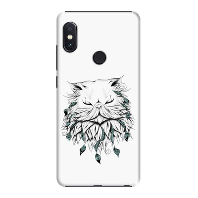 Poetic Persian Cat Slim Case And Cover For Redmi Note 5 Pro - White