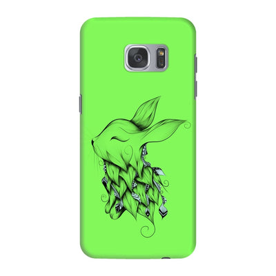 Poetic Rabbit Slim Case And Cover For Galaxy S7 Edge - Neon Green
