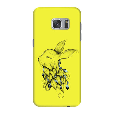 Poetic Rabbit Slim Case And Cover For Galaxy S7 Edge - Neon Yellow