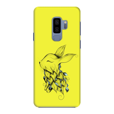 Poetic Rabbit Slim Case And Cover For Galaxy S9 Plus - Neon Yellow