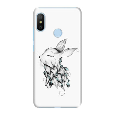 Poetic Rabbit Slim Case And Cover For Redmi 6 Pro - White