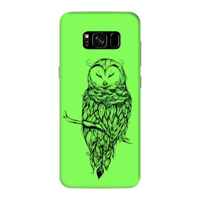 Poetic Snow Owl Slim Case And Cover For Galaxy S8 Plus - Neon Green
