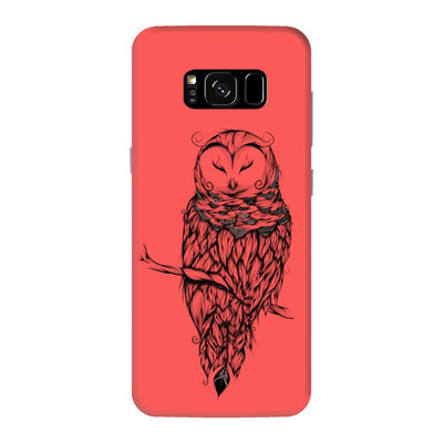 Poetic Snow Owl Slim Case And Cover For Galaxy S8 Plus - Neon Red
