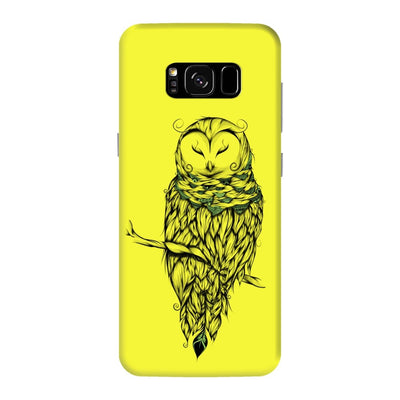 Poetic Snow Owl Slim Case And Cover For Galaxy S8 Plus - Neon Yellow
