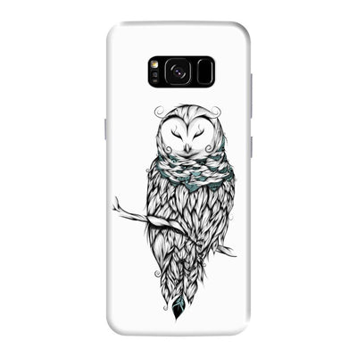 Poetic Snow Owl Slim Case And Cover For Galaxy S8 Plus - White