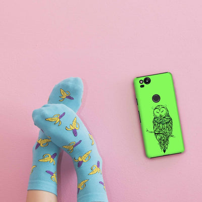 Poetic Snow Owl Slim Case And Cover For Pixel 2
