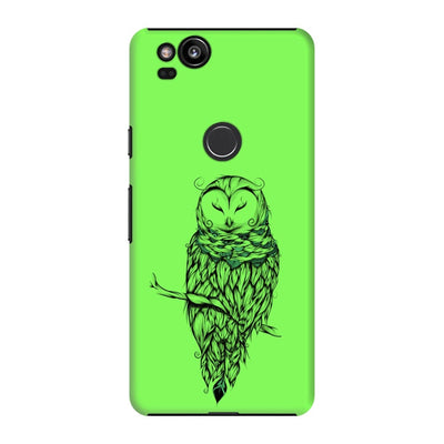 Poetic Snow Owl Slim Case And Cover For Pixel 2 - Neon Green
