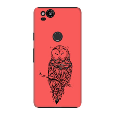Poetic Snow Owl Slim Case And Cover For Pixel 2 - Neon Red