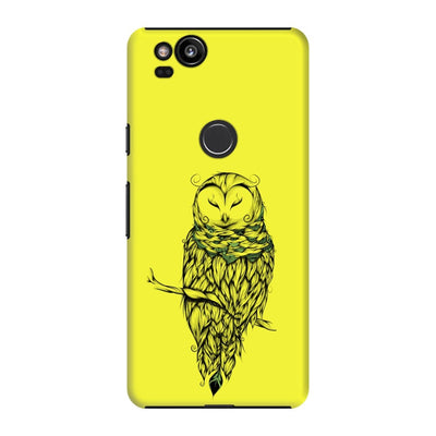 Poetic Snow Owl Slim Case And Cover For Pixel 2 - Neon Yellow