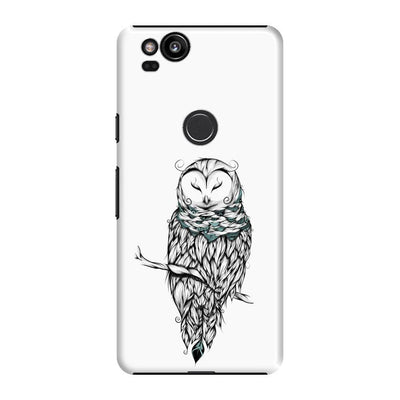 Poetic Snow Owl Slim Case And Cover For Pixel 2 - White