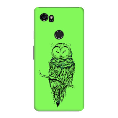 Poetic Snow Owl Slim Case And Cover For Pixel 2 Xl - Neon Green