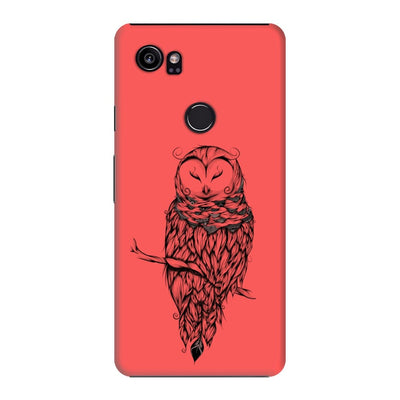 Poetic Snow Owl Slim Case And Cover For Pixel 2 Xl - Neon Red