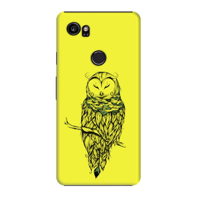 Poetic Snow Owl Slim Case And Cover For Pixel 2 Xl - Neon Yellow