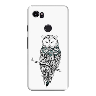 Poetic Snow Owl Slim Case And Cover For Pixel 2 Xl - White