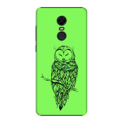 Poetic Snow Owl Slim Case And Cover For Redmi Note 5 - Neon Green