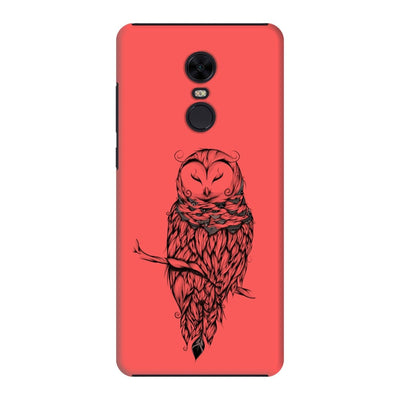 Poetic Snow Owl Slim Case And Cover For Redmi Note 5 - Neon Red