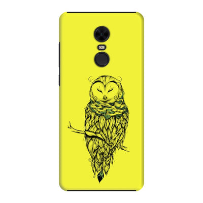 Poetic Snow Owl Slim Case And Cover For Redmi Note 5 - Neon Yellow