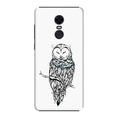 Poetic Snow Owl Slim Case And Cover For Redmi Note 5 - White