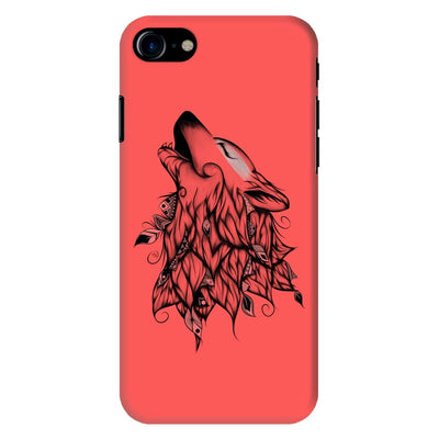 Poetic Wolf Slim Case And Cover For Iphone 8 - Neon Red