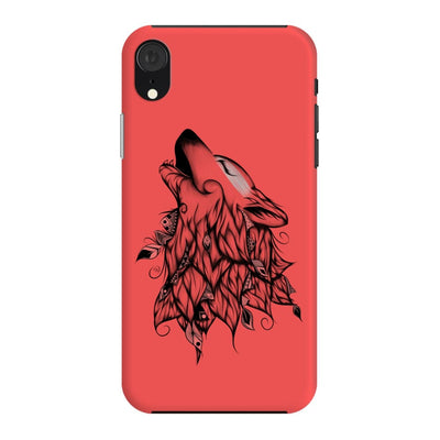 Poetic Wolf Slim Case And Cover For Iphone Xr - Neon Red