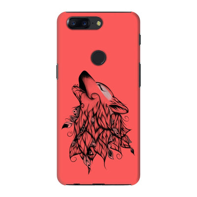 Poetic Wolf Slim Case And Cover For Oneplus 5T - Neon Red