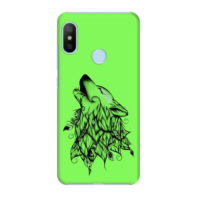 Poetic Wolf Slim Case And Cover For Redmi 6 Pro - Neon Green