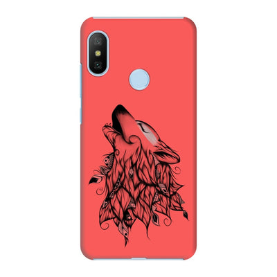 Poetic Wolf Slim Case And Cover For Redmi 6 Pro - Neon Red
