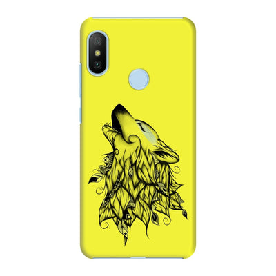 Poetic Wolf Slim Case And Cover For Redmi 6 Pro - Neon Yellow