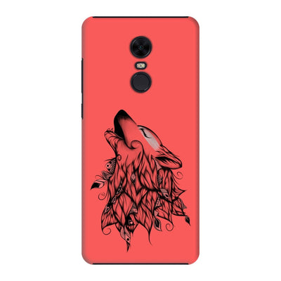 Poetic Wolf Slim Case And Cover For Redmi Note 5 - Neon Red