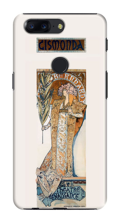 Poster For ½½½Gismonda 1894 Colour Lithograph Slim Case And Cover Oneplus 5T