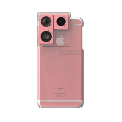 Puzlook Nude - 3-in-1 Lens Case - Rose Gold / Apple / iPhone 6/6S
