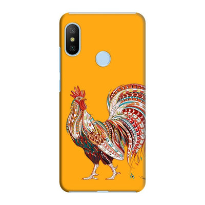 Rooster-The Morning Champ Slim Case And Cover For Redmi 6 Pro - Yellow