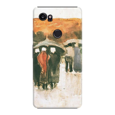 Scheveningen Women And Other People Under Umbrellas Slim Case For Pixel 2 XL