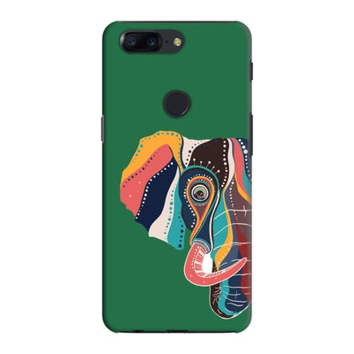 The Compassionate Elephant Slim Case And Cover For Oneplus 5T - Green