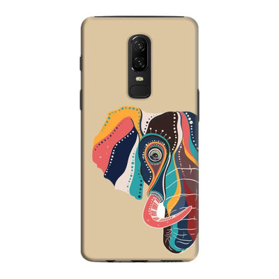 The Compassionate Elephant Slim Case And Cover For Oneplus 6 - Brown