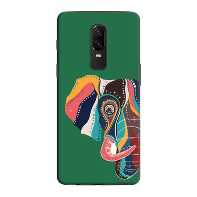 The Compassionate Elephant Slim Case And Cover For Oneplus 6 - Green