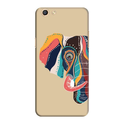 The Compassionate Elephant Slim Case And Cover For Oppo F3 - Brown