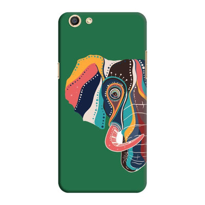 The Compassionate Elephant Slim Case And Cover For Oppo F3 - Green