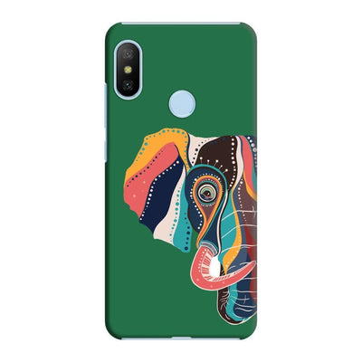 The Compassionate Elephant Slim Case And Cover For Redmi 6 Pro - Green