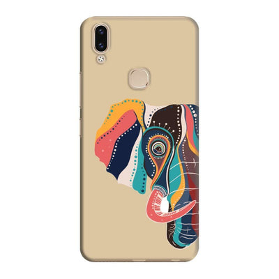 The Compassionate Elephant Slim Case And Cover For Vivo V9 - Brown