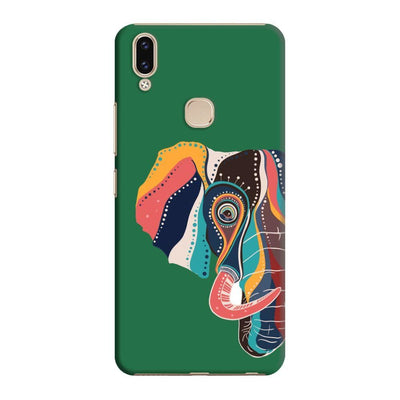 The Compassionate Elephant Slim Case And Cover For Vivo V9 - Green