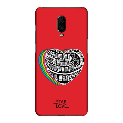 The Endearing Heart Slim Case And Cover For Oneplus 6T - Red